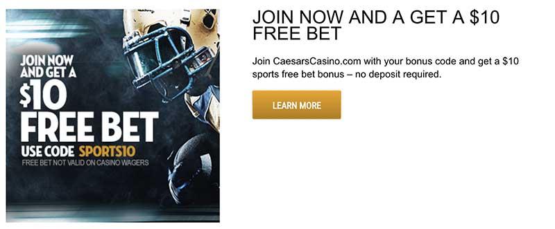Caesars sportsbook NJ bonus