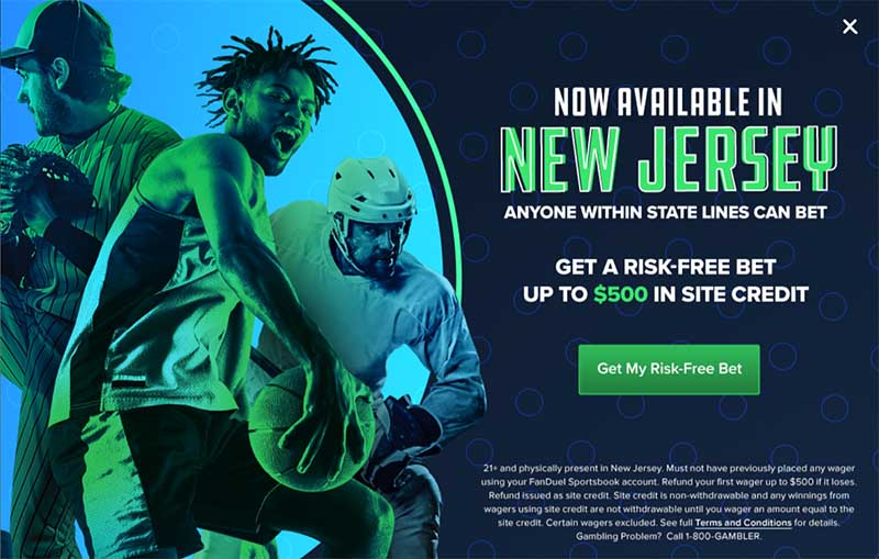 FanDuel bonus for New Jersey