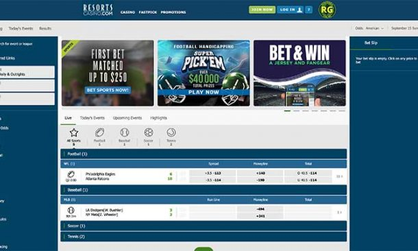 Resorts Casino Sports betting bonus review