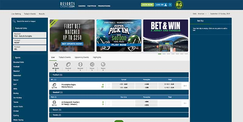 888 Sportsbook Screenshot