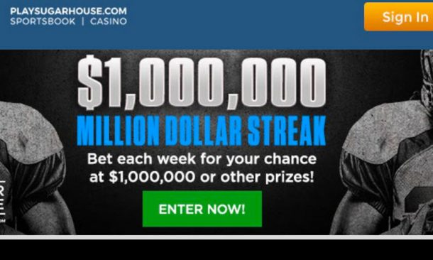 SugarHouse NFL betting promo