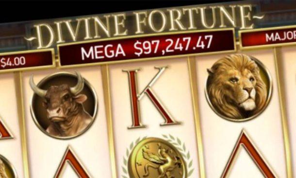 Divine Fortune progressive jackpot slot